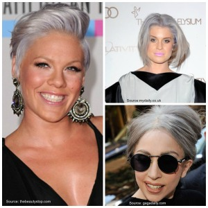 grey haired celebrity